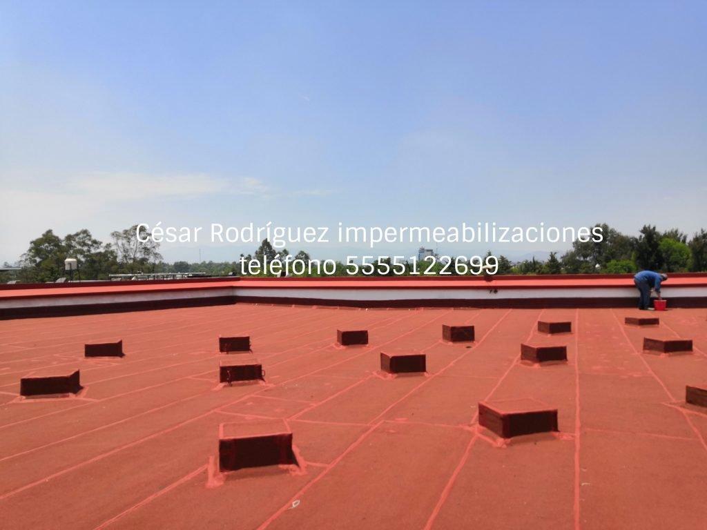 Impermeabilización de azotea de edificio. Impermeabilizaciones de cubiertas de edificios.